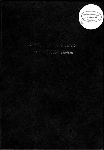 A VMTE Baradla Barlangkutató Csoport 1980. évi jelentése
