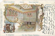 Pöstyén - képeslap, gyógyfürdő, 1909