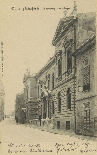 Üdvözlet Pécsről! Dunagőzhajózási Társaság palotája