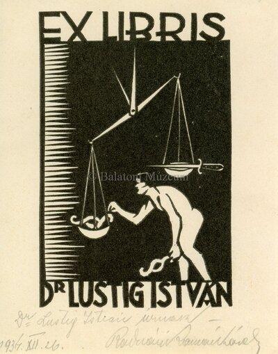 Ex libris Dr. Lustig István.