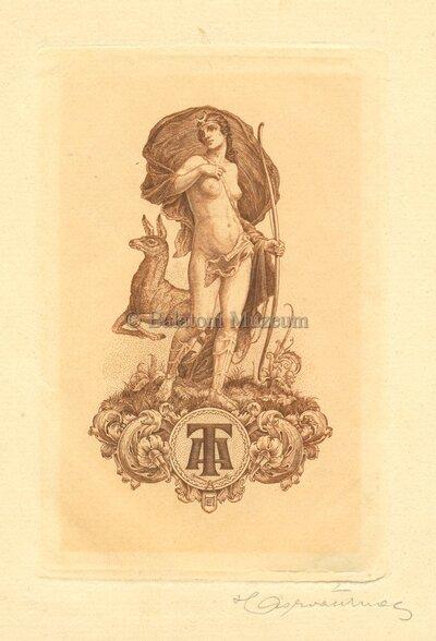 Artemisz-Diana szarvasüszővel