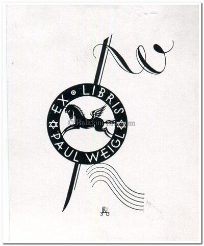 Ex libris Paul Weigl.
