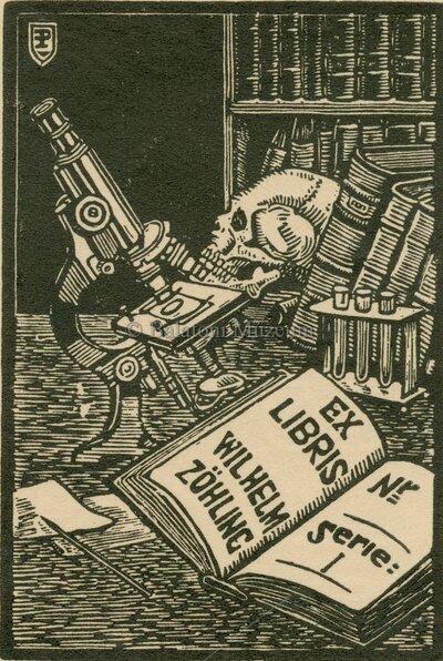 Ex libris Wilhelm Zöhling.