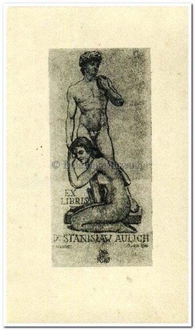 Ex libris Dr. Stanislaw Aulich.