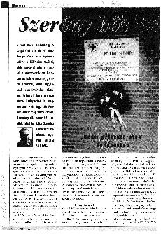 Szerény hős Svácjból - Friedrich Born - újságcikk