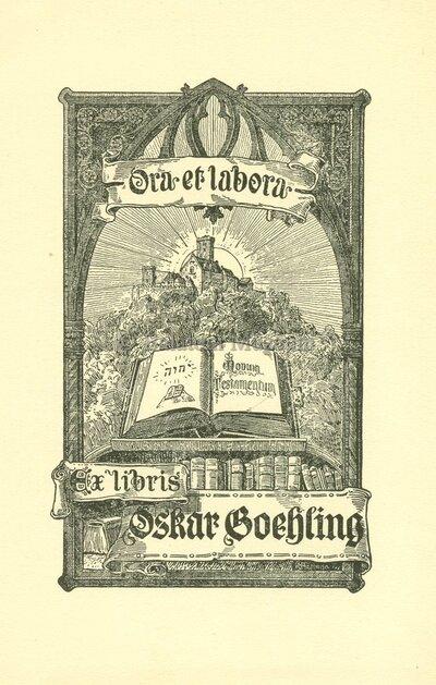 Ex libris Oskar Boehling.