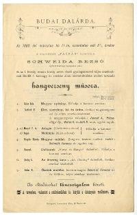 A Budai Dalárda hangversenye a Fácánban (Víziváros), Schweida Rezső, 1882