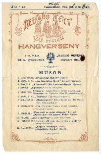 A Mikádó-kert hangversenyprogramja, 1895