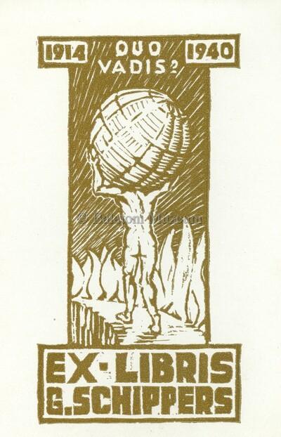Ex libris G. Schippers. 1914 ouo vadis?