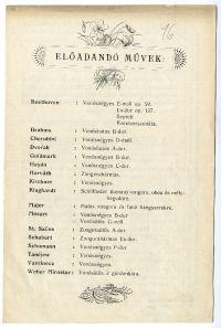 Hangversenybérlet a budapesti könyvtáregyesület javára a Budai Vigadóban, 1901-1902