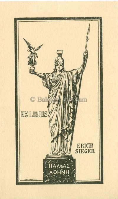 Ex libris Erich Sieger