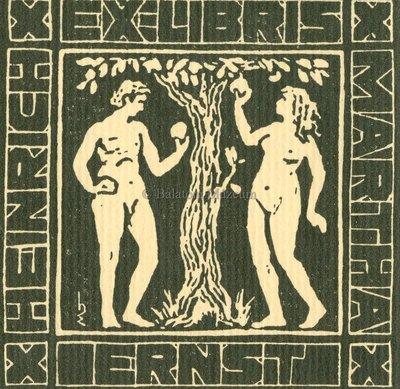 Ex libris Heinrich Martha Ernst