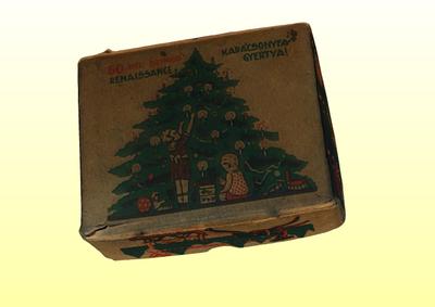 Karácsonyfagyertya doboz
