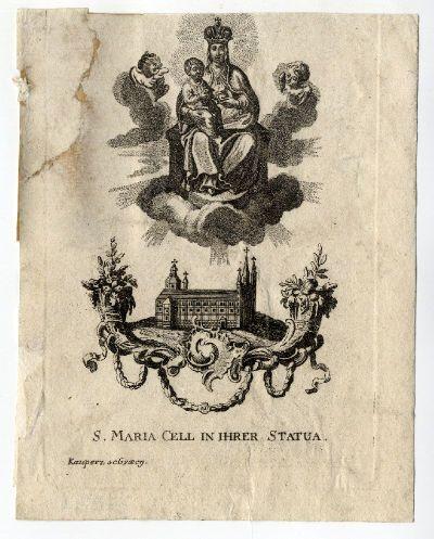 Szentkép S. Maria Cell in ihren Statua, é.n.