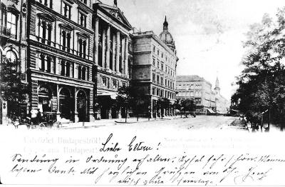 Astoria Szálló, Budapest 1900 körül