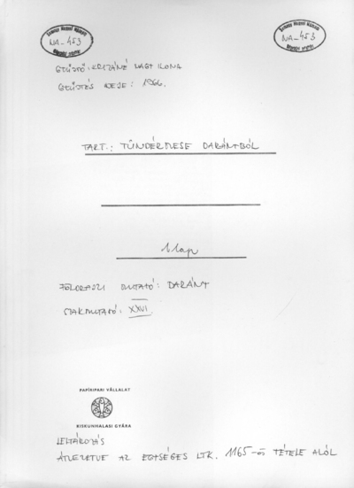 Tündérmese Darányból NA-453