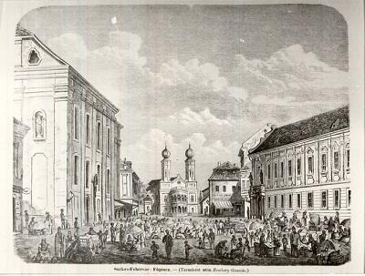 Piac Székesfehérvár XIX. század