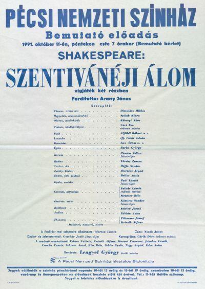 Szentivánéji álom bemutató plakát