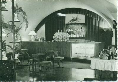 Fortuna Restaurant Kávéház Eszpresszó - képeslap, Budapest, 1959