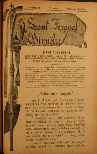 Szent Ferenc Hírnöke 1907. szeptember