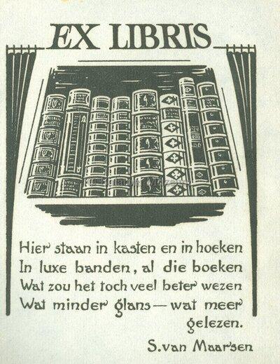 Ex libris S. van Maarsen
