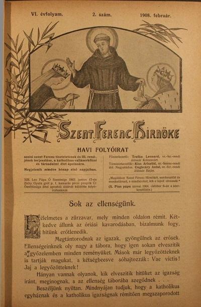 Szent Ferenc Hírnöke 1908. február
