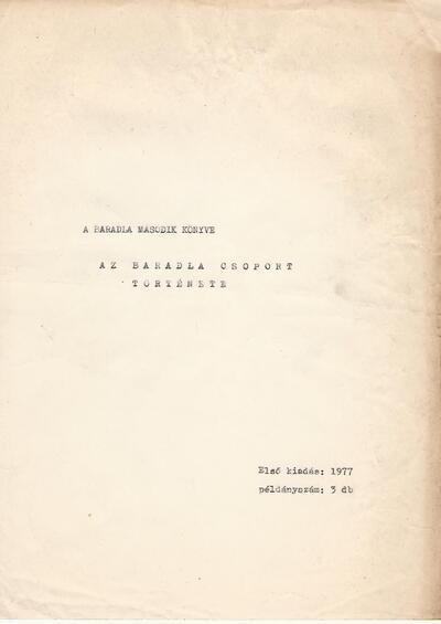 A Baradla második könyve