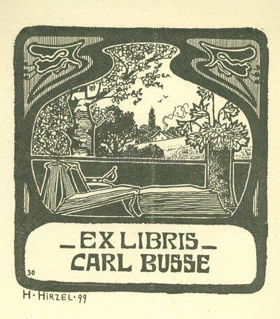 Ex libris Carl Busse