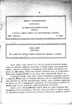 Somogyi Ismeretterjesztő, 1. szám, 1958. október