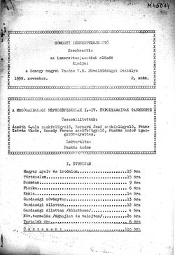 Somogyi Ismeretterjesztő, 2. szám, 1958. november