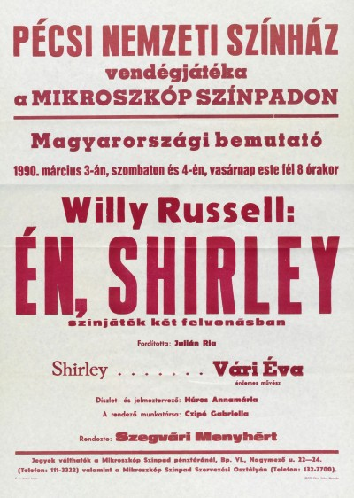Én, Shirley bemutató plakát