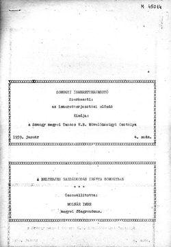 Somogyi Ismeretterjesztő, 4. szám, 1959. január