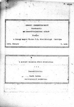 Somogyi Ismeretterjesztő, 5. szám, 1959. február