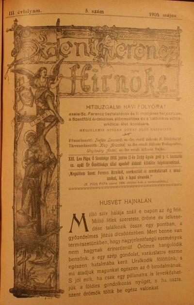 Szent Ferencz hírnöke 1905. május