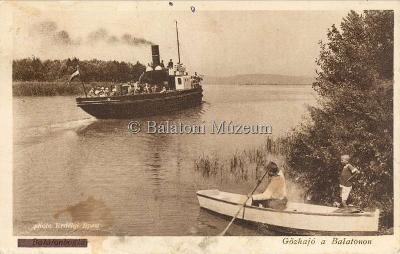 Gőzhajó a Balatonon, Balatonboglár