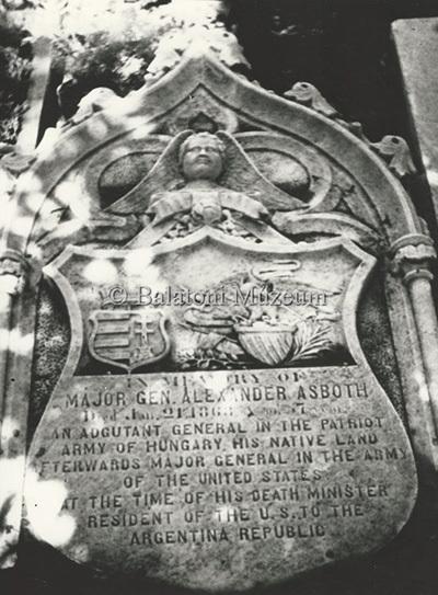 Asbóth Sándor síremléke Argentínában