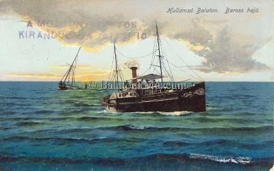 Hullámzó Balaton. Baross hajó