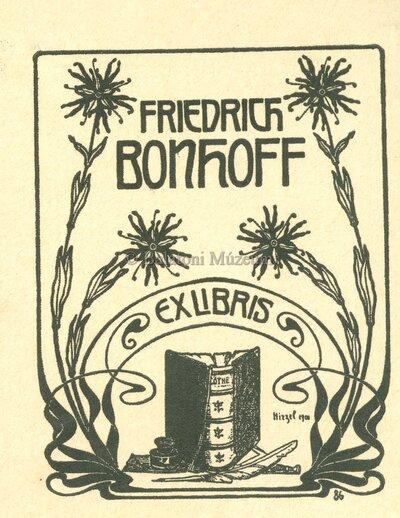 Fridedrich Bonhoff Ex libris