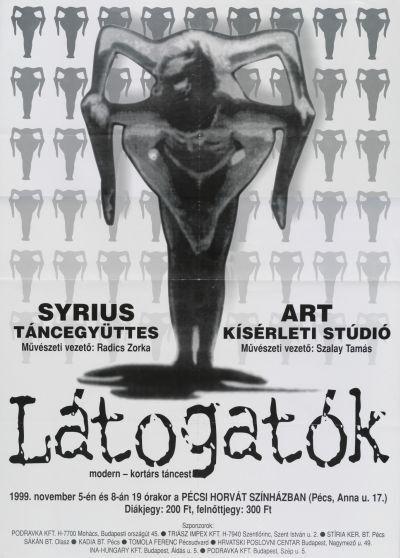 Látogatók kortárs táncest bemutató plakát