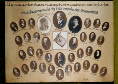 Budapest-Székesfővárosi Cukrászok és Mézeskalácsosok Ipartestületének tablója, 1931