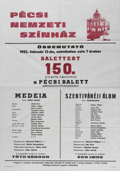 Balettest 150. önálló táncmű bemutató plakát