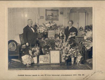 Ravasz László és felesége 25 éves házassági évfordulója, Budapest, 1937