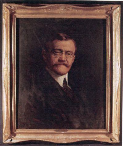 Stück Ferenc cukrászmester portréja - festmény reprója, Budapest, 1920-as évek (2000)