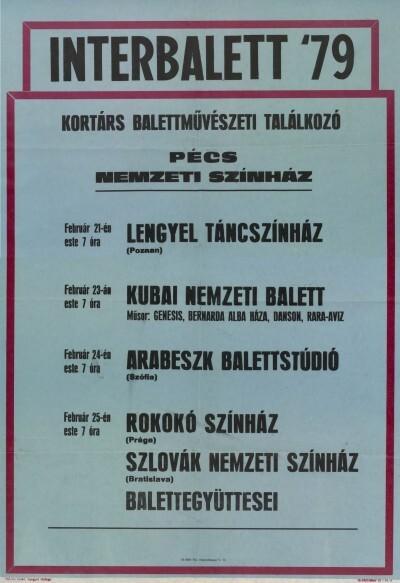 Interbalett '79 színházi plakát