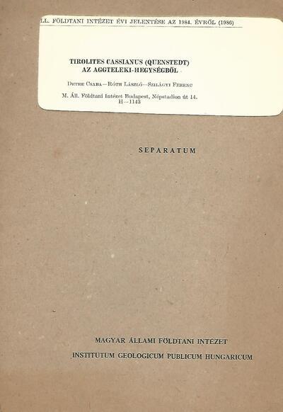 Tirolites Cassianus az Aggteleki-hegységből