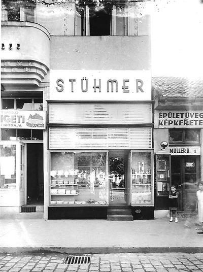 Stühmer üzlet Budapest 1930.