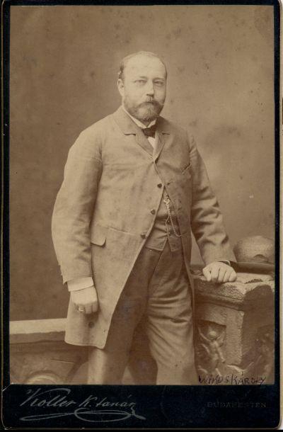 Wikus Károly cukrász portréja, Budapest