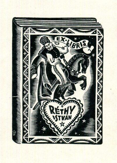 Ex libris Réthy István kisgrafika