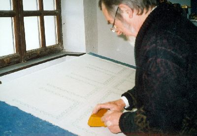 Dr. Bolyós András kékfestő, Debrecen