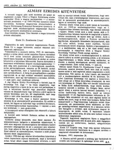 Almásy ezredes kitüntetése - újságcikk